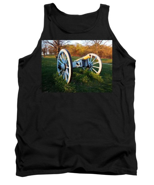 Tank Top featuring the photograph Cannon In The Grass by Michael Porchik