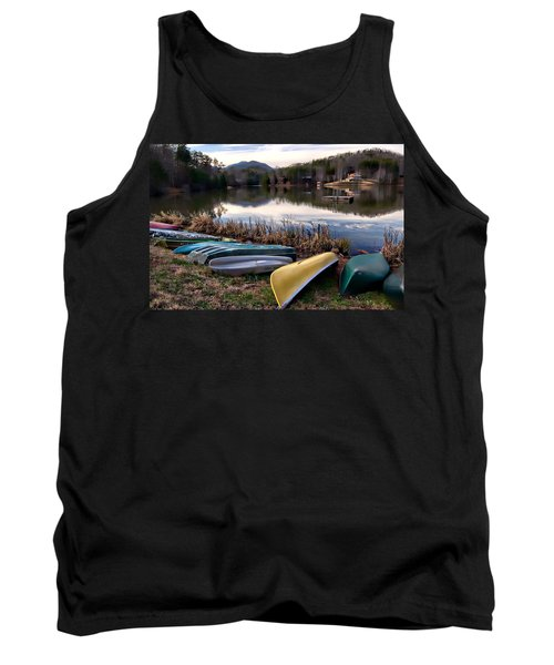 Canoes In Nc Tank Top