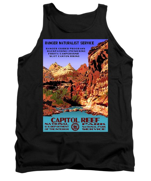 Capitol Reef National Park Vintage Poster Tank Top