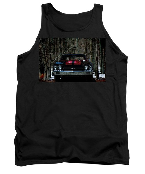 Car Art Chevy Chevelle Ss Hdr Tank Top by Lesa Fine