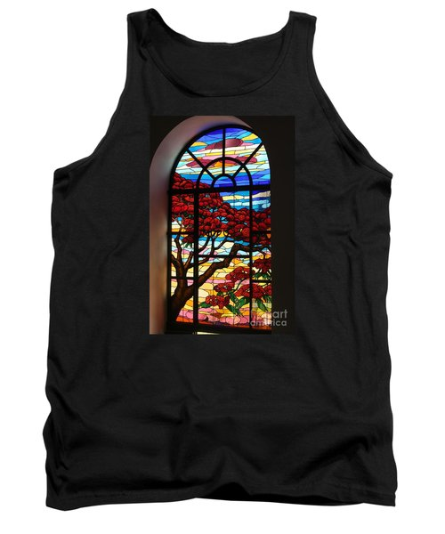 Caribbean Stained Glass  Tank Top