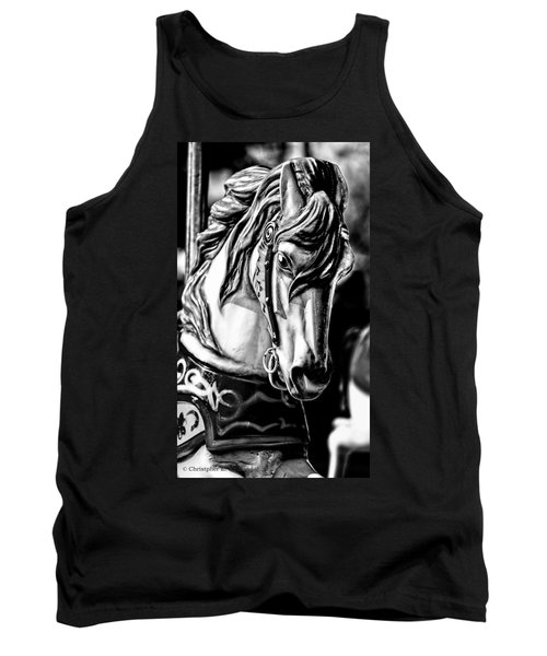 Carousel Horse Two - Bw Tank Top
