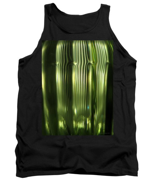 Cascading Green Tank Top
