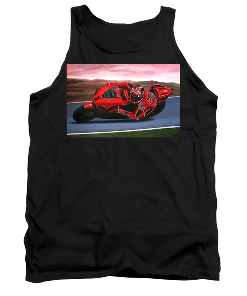 Casey Stoner On Ducati Tank Top