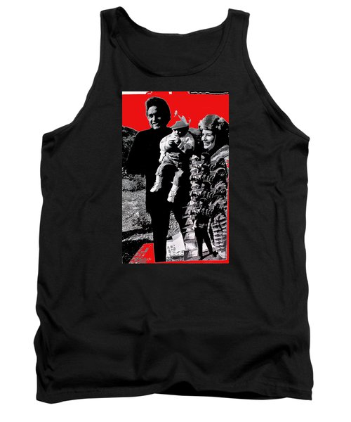 Tank Top featuring the photograph Cash Family In Red Old Tucson Arizona 1971-2008 by David Lee Guss