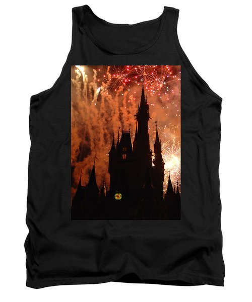 Tank Top featuring the photograph Castle Fire Show by David Nicholls