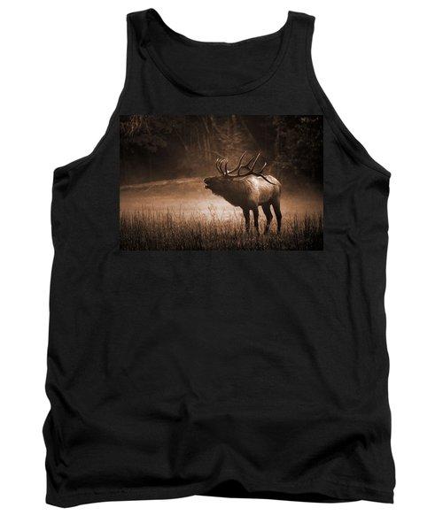 Cataloochee Bull Elk In Sepia Tank Top