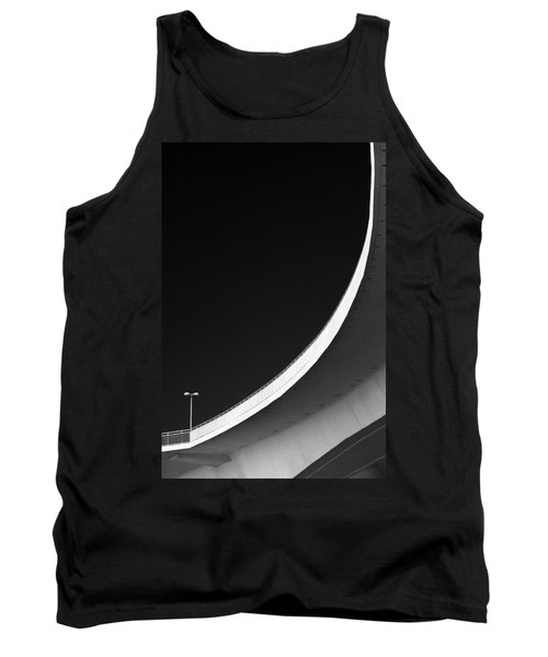 Causeway Arc Clearwater Florida Black And White Tank Top