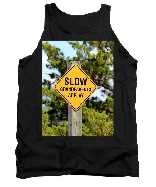 Caution Sign Tank Top