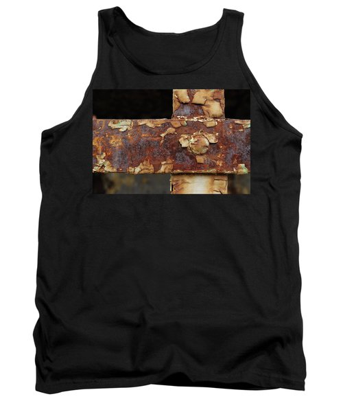 Tank Top featuring the photograph Cell Strapping by Fran Riley