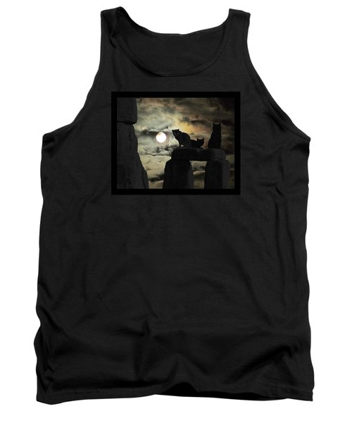 Tank Top featuring the photograph Celtic Nights Selective Coloring by I'ina Van Lawick