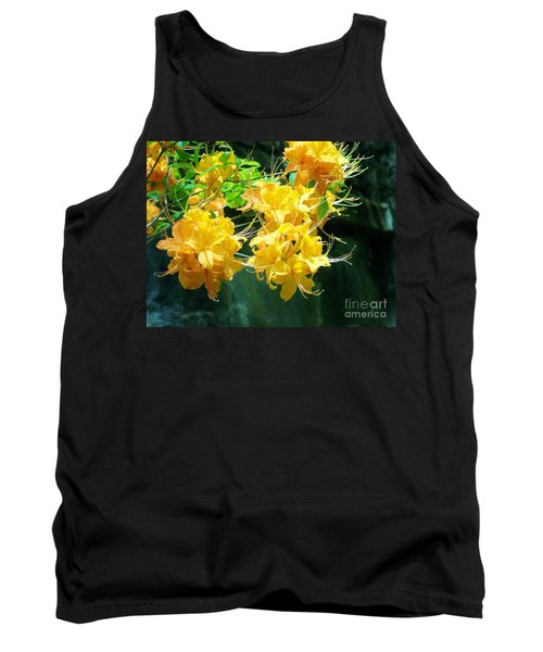 Centered Yellow Floral Tank Top
