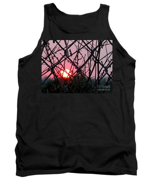 Tank Top featuring the photograph Chain Link Sunset by Jennie Breeze