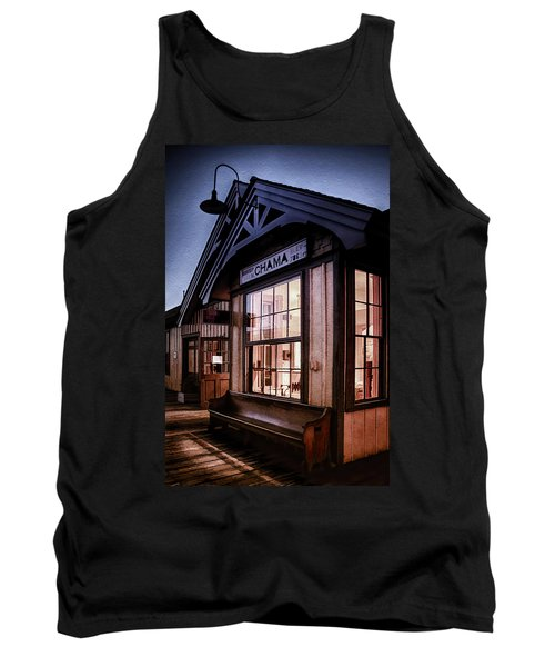 Tank Top featuring the photograph Chama Train Station by Priscilla Burgers