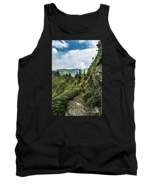 Tank Top featuring the photograph Charlies Bunion Trail by Debbie Green