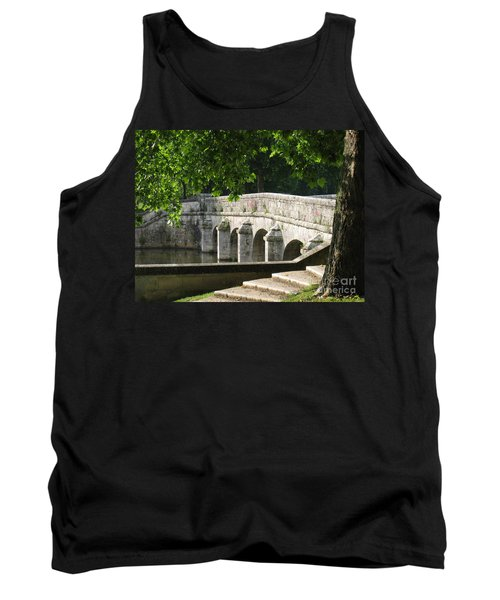 Tank Top featuring the photograph Chateau Chambord Bridge by HEVi FineArt
