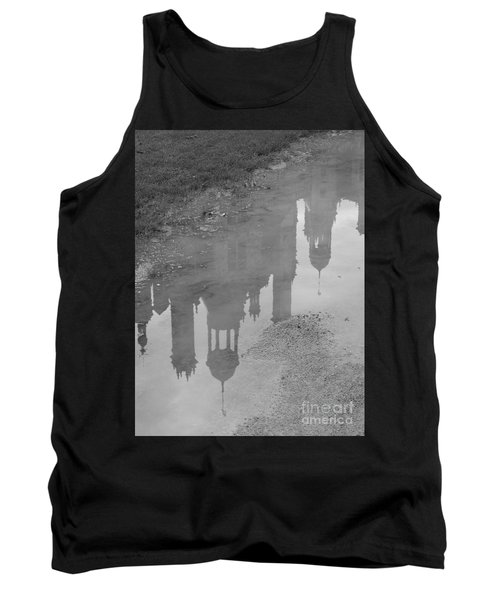 Tank Top featuring the photograph Chateau Chambord Reflection by HEVi FineArt
