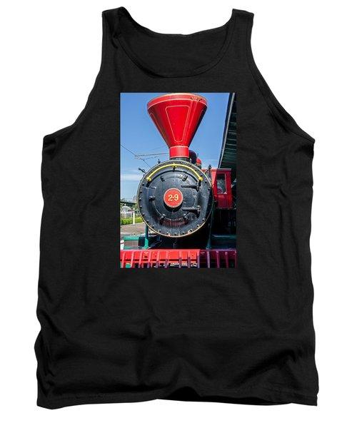 Chattanooga Choo Choo Steam Engine Tank Top by Susan  McMenamin