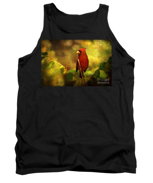 Cheery Red Cardinal  Tank Top by Lianne Schneider