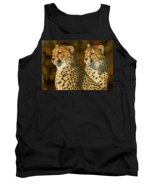 Cheetah Brothers Tank Top by David Stribbling