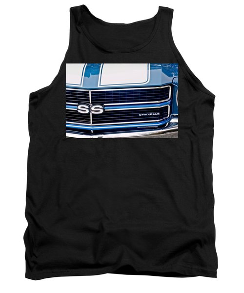 Chevrolet Chevelle Ss Grille Emblem 2 Tank Top by Jill Reger