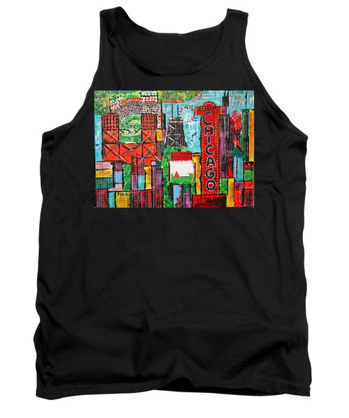 Chicago - City Of Fun - Sold Tank Top by George Riney