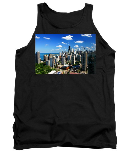 Chicago Buildings Skyline Clouds Tank Top