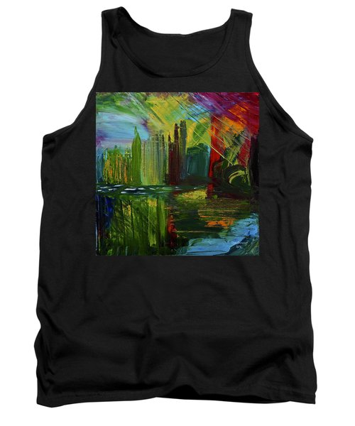 Chicago City Scape Tank Top by Dick Bourgault