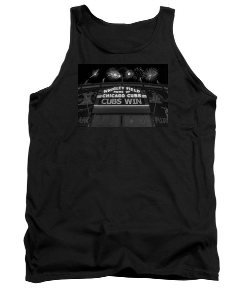 Chicago Cubs Win Fireworks Night B W Tank Top