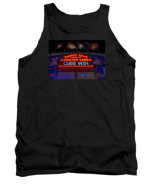 Chicago Cubs Win Fireworks Night Tank Top