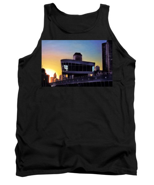 Tank Top featuring the photograph Chicago Lock Tower by John Hansen