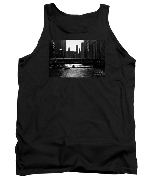 Chicago Morning Commute - Monochrome Tank Top