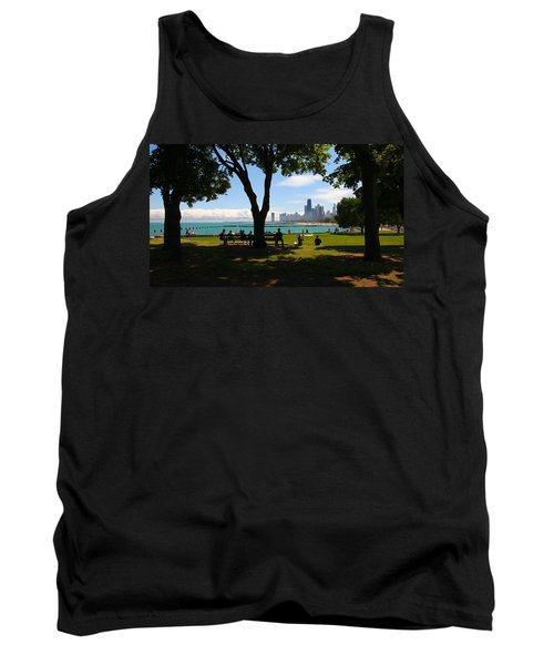 Chicago Skyline Lakefront Park Tank Top