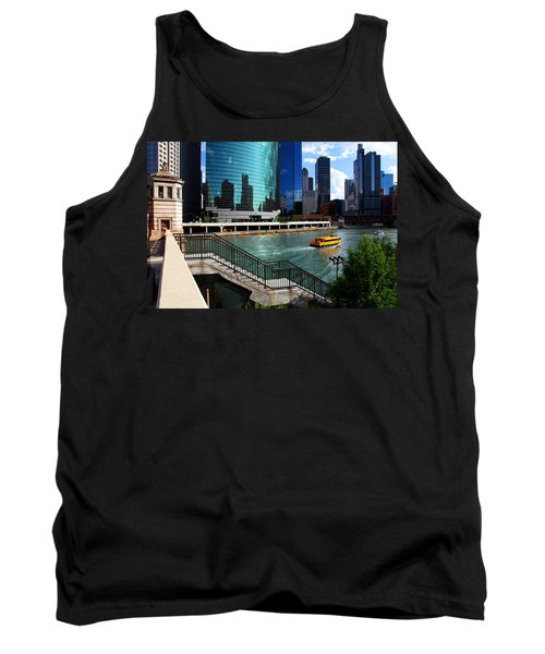 Chicago Skyline River Boat Tank Top