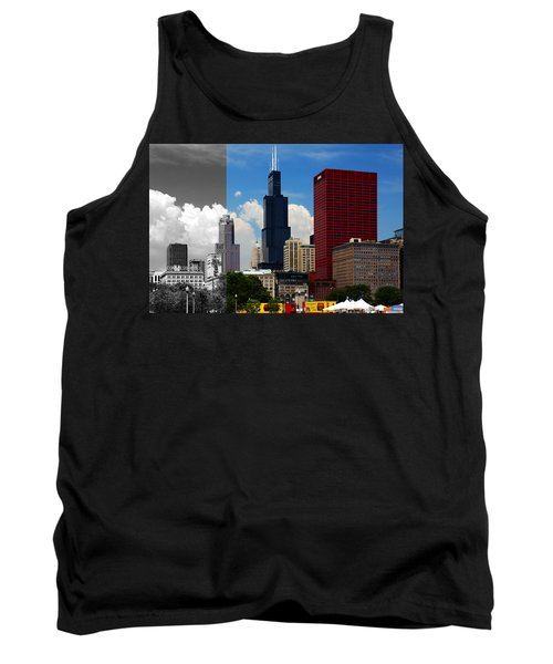 Chicago Skyline Sears Tower Tank Top