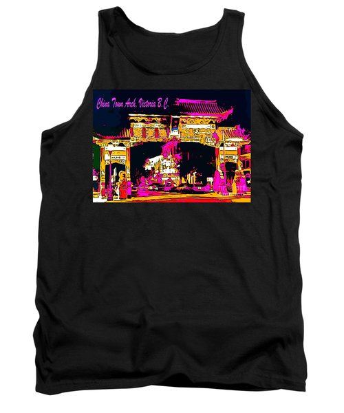 China Town Arch Victoria British Columbia Canada Tank Top