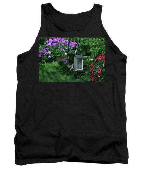 Tank Top featuring the photograph Chow Time For This Bird by Thomas Woolworth