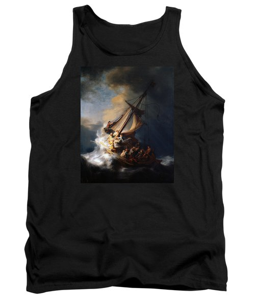 Christ And The Storm Tank Top by Rembrandt