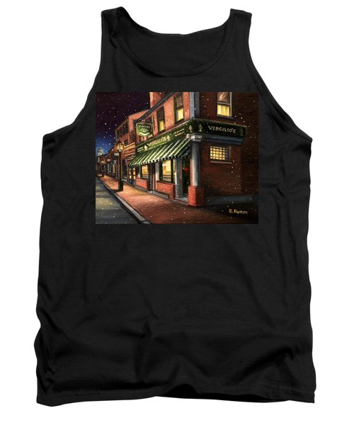 Christmas At Virgilios Tank Top by Eileen Patten Oliver