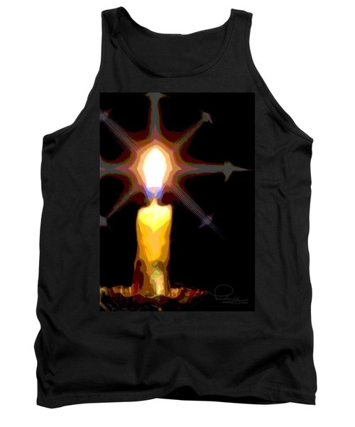 Christmas Candle Tank Top by Ludwig Keck