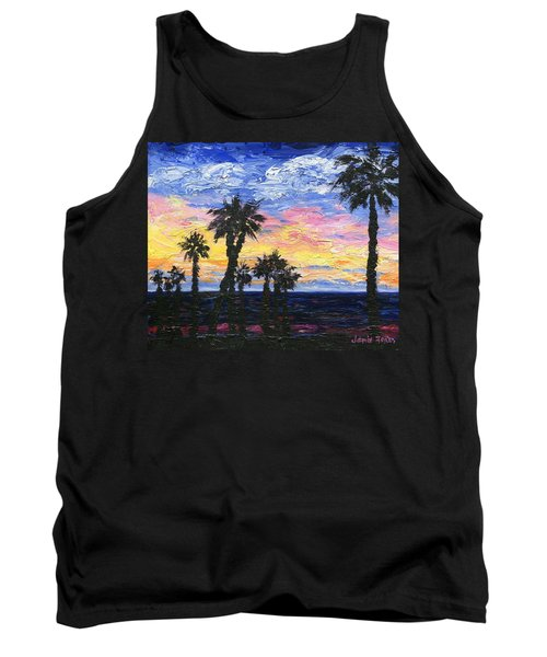 Tank Top featuring the painting Christmas Eve In Redondo Beach by Jamie Frier
