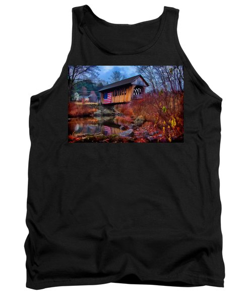 Cilleyville Covered Bridge Tank Top by Jeff Folger