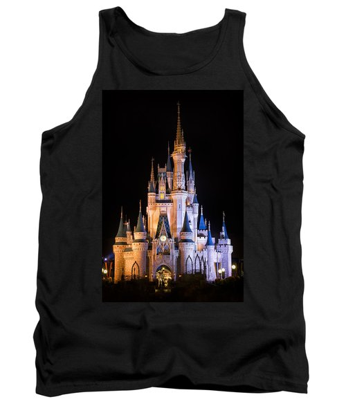 Cinderella's Castle In Magic Kingdom Tank Top