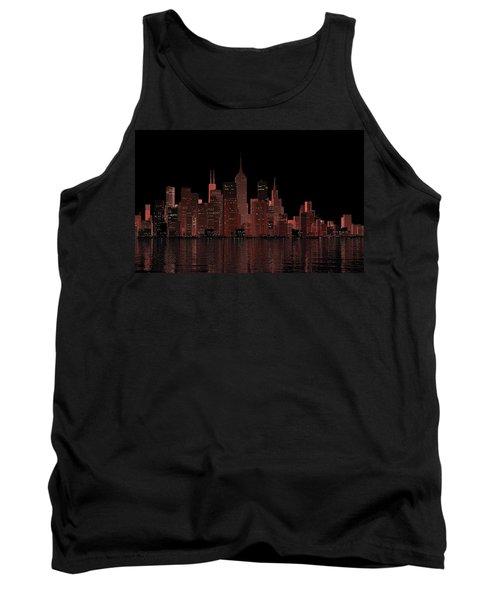 Chicago City Dusk Tank Top
