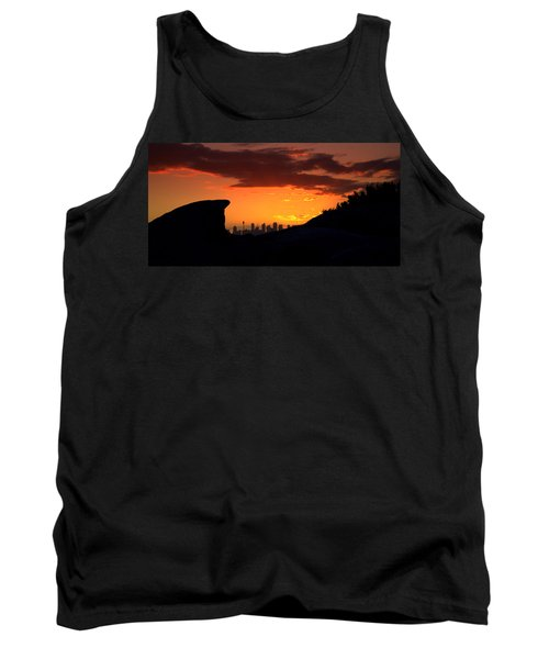 Tank Top featuring the photograph City In A Palm Of Rock by Miroslava Jurcik