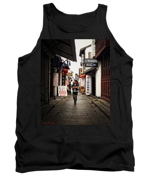 Tank Top featuring the photograph City Life In Ancient China by Lucinda Walter