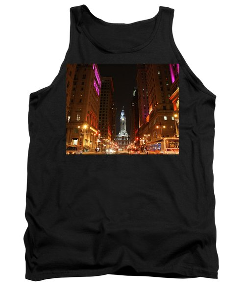 Philadelphia City Lights Tank Top by Christopher Woods