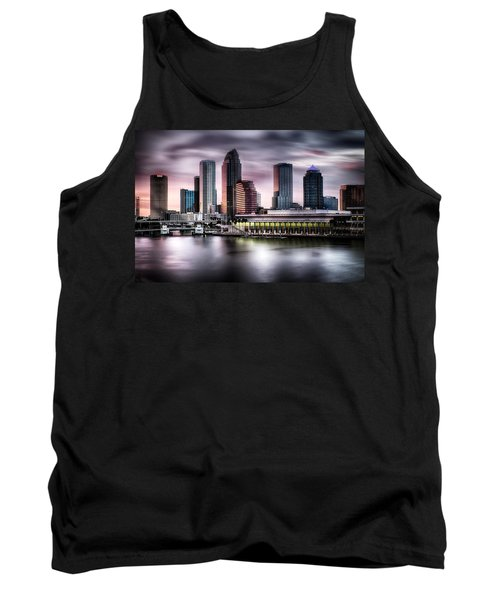 City Of Tampa Skyline At Dusk In Hdr Tank Top by Michael White