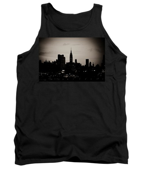 Tank Top featuring the photograph City Silhouette by Sara Frank