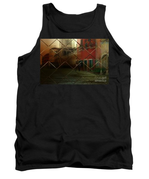 Tank Top featuring the digital art City Street by Liane Wright